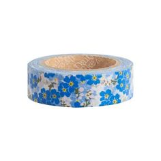 Stick these sweet little signs of spring anywhere with our floral washi tape. This charming pattern is the perfect addition to cards, gifts, scrapbooks, planner décor and more! Tear by hand and