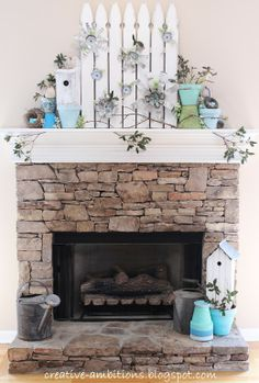 Spring Mantel from Creative Ambitions