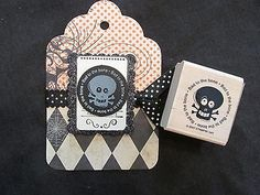Stampin-Up-Skeleton-Bones-Skull-Halloween-Rubber-Stamp-Retired