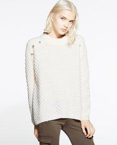 Jersey de mujer Sfera con cuello perkins y botones. 20% alpaca 80% acrílico