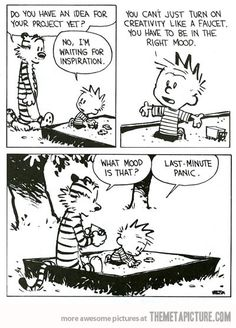 The life of a college student (<3 Calvin and Hobbs)