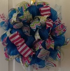 Hey, I found this really awesome Etsy listing at https://www.etsy.com/listing/182873469/spring-deco-mesh-wreath