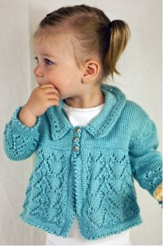 Over 10 Lovely Free Lace Cardigan Baby Knitting Patterns - Free Baby Knitting Baby Knitting Patterns, Baby Cardigan Knitting Pattern, Knitting For Kids, Baby Patterns, Free Knitting, Sweater Patterns, Knit Baby Sweaters, Toddler Sweater, Knitted Baby Clothes