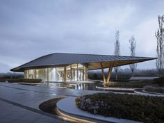 Gallery of Tianjing Zarsion Exhibition Center / Ruf Architects - 8 Form Architecture, Commercial Street, Layout, Marquise, Pavilion, Canopy, Facade, Gazebo, Villa