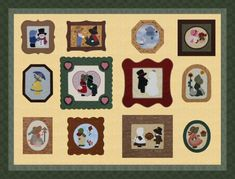 """cute! Sunbonnet """"family"""" portraits"""