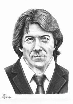 Dustin Hoffman by Murphy Elliott ~ traditional pencil art