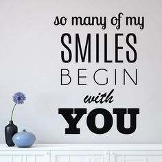 This cute Begin With You wall quote is perfect for any room in your home! Select the size and color...