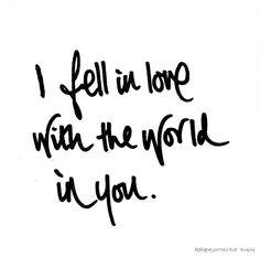 ..fell in love..