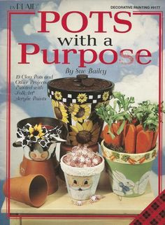 Pots with Purpose Decorative Tole Painting Craft Book