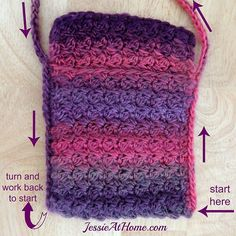 Quick-Little-Bag-free-crochet-pattern-by-Jessie-At-Home-sides