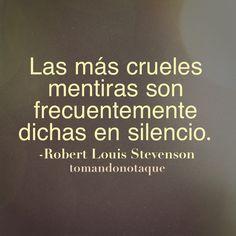 #frases - Frase de mentiras Las más crueles mentiras son... #citas #reflexiones