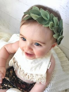 ce10892b69044 Felt Flower Headband Newborn Headband Baby Girl Headband