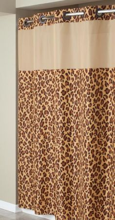 Hookless Leopard Print Mystery Shower Curtain