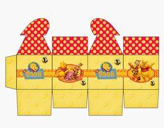 Winnie the Pooh: Caja con Cierre en Forma de Corazón para Imprimir Gratis.