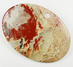 HUGE Red River Jasper Pendant Bead  70x50x5mm by StoneLegend, Red River, Red Jasper, Rocks, Stones, Polish, Plates, Beads, Pendant, Tableware