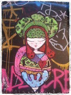 Street art. Secle. Born. Barcelona