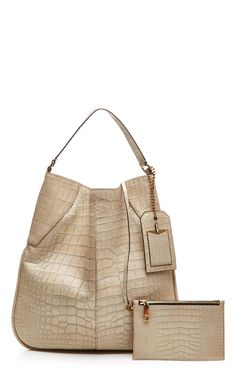 Surplus Plus Bag In Sand Alligator by Marc Jacobs for Preorder on Moda Operandi