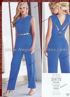 Catalogo Cklass Fashionline 2015 Summer Fashion Outfits, Cool Outfits, Casual Outfits, Fashion Dresses, Ladies Night Outfit, Indian Fashion Trends, Unique Fashion, Womens Fashion, Jumpsuit Outfit