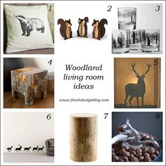 How to use the woodland trend in your living room (www.freshdesignblog.com)