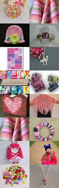 Pink is Fun by Nadia Morgan on Etsy--Pinned with TreasuryPin.com
