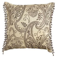 Copper Paisley Pillow - Ivory 18X18 $14.98 at Bee Cave
