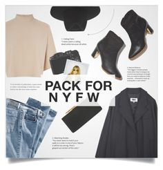 """Pack for NYFW"" by stellacolor21 ❤ liked on Polyvore featuring MM6 Maison Margiela, Jimmy Choo, Warehouse, CO, Polaroid and rag & bone"