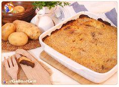Purea di Patate al forno con Porcini e Pancetta