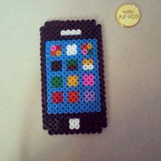 iPhone perler beads by pyssla_girls