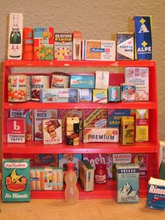 Grocery store, Toys and Vintage on Pinterest