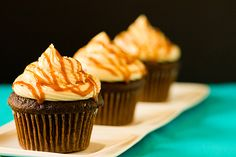 Chocolate Salted Caramel Cupcakes by Brown Eyed Baker