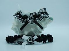 """Jack"" themed garter set. Wedding Garters, Garter Set, Bridal Garters"