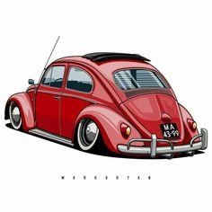 Volkswagen New Beetle, 3008 Peugeot, Peugeot 206, Wallpapers Bmw, Hippie Car, Vw Mk1, E Motor, Vw Vintage, Car Illustration