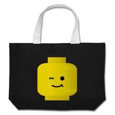 Minifig Winking Head Canvas Bag