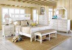 Cindy Crawford Home Seaside White 5 Pc Queen Panel Bedroom. $1,399.99.  Find affordable Queen Bedroom Sets for your home that will complement the rest of your furniture. #iSofa #roomstogo