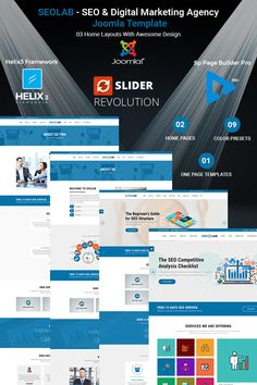 SEOLAB - SEO & Digital Marketing Agency Joomla Template Big Screenshot