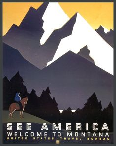 db0d4ea3d1d Items similar to See America Montana Mountains