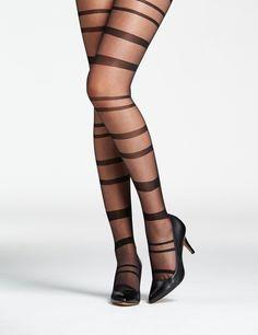 Horizontal stripe tights