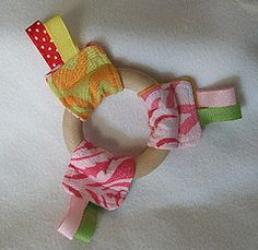 Quick Ribbon Ring Teether Toy Tutorial