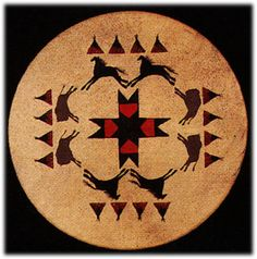 Image detail for -... Edition TEEPEE & BUFFALO drums Native American Indian artifacts