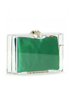 Charlotte Olympia plexiglass box clutch
