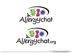 Logo design for startup - AllergyChat by ColaDesigns