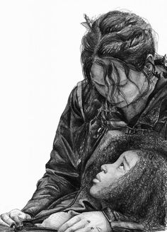 Incredible drawing of Katniss and Rue by Mandy. Wow. This does not even look possible to draw.