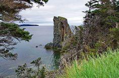 The beautiful km Skerwink Trail located near Trinity, Newfoundland is one of the best in the province for rugged coastal scenery including sea stacks. O Canada, The Province, Newfoundland, Nova Scotia, Hiking Trails, Mount Rushmore, Travel Destinations, Nature Photography, Coastal