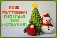 Amigurumi Christmas Tree Decorations: Robin ~ Free PDF Pattern