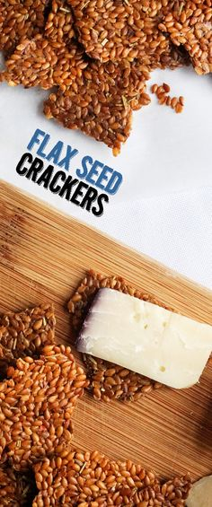 Flax seed crackers recipe! All you need is water and flax seeds.