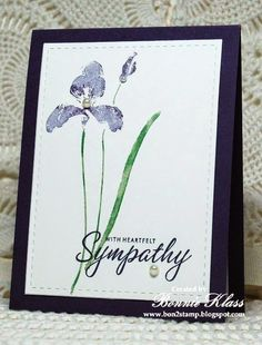 **Or white on white** Stamping with Klass: Single Iris Sympathy