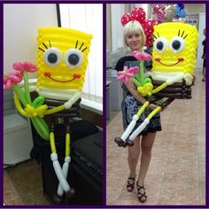 Spongebob balloon sculpture #spongebob  #balloon #sculpture #twist #art #character