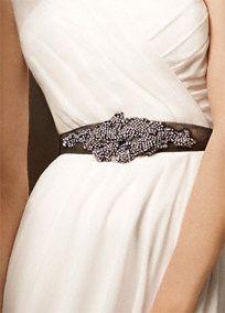David's Bridal Crystal Sash // Hukk to find out when it goes on sale! Bridal Sash, Davids Bridal, Bridal Gowns, Wedding Gowns, Bridal Belts, Vera Wang Wedding, Aisle Style, White By Vera Wang, It Goes On