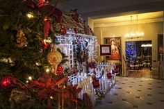 View to the Lobby Lounge Lobby Lounge, Christmas Tree, Holiday Decor, Home Decor, Teal Christmas Tree, Decoration Home, Room Decor, Xmas Trees, Christmas Trees