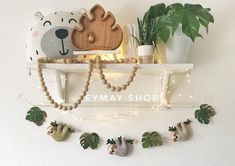 leaf garland Sloth felt garland for your kid's room A gentle garland will decorate your nursery room and contribute to the development of the baby. Add some beautiful sloth to your nurser